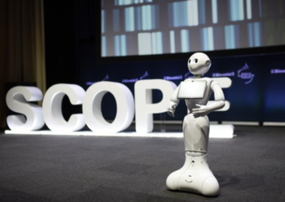 robot entertainer at conference