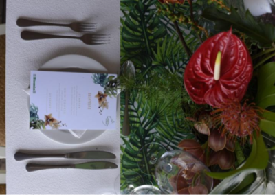 place setting at conderence