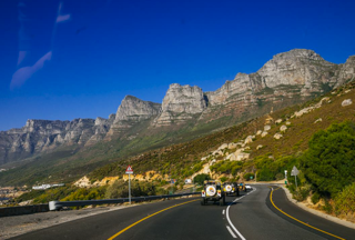 Victoria Road with Twelve Apostle mountain range in distance