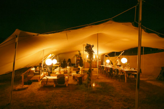 Conference dinner in Nomadic marquee