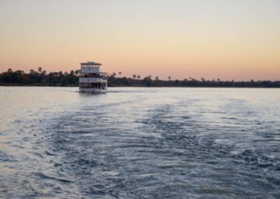 Zambezi Queen houseboat on the Zambezi River